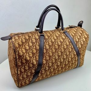 Vintage Dior Trotter Boston Bag